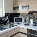 Parkland Site Tonto's View Self Catering Kitchen Sink and Microwave