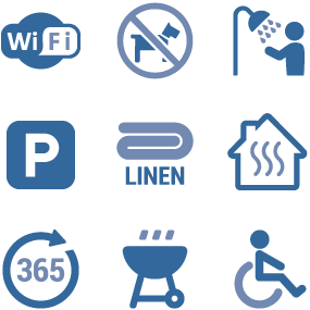 Parkland Site Accommodation Icons Disabled Friendly