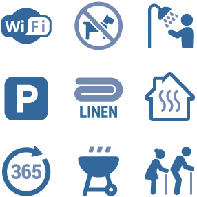 Parkland Site Accommodation Icons