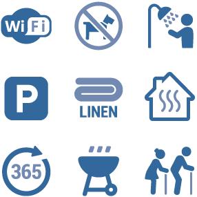 Parkland Site Accommodation Icons